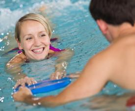 Adult swimming lessons equipment