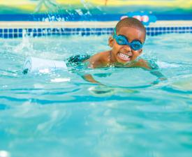 Youth swimming at the YMCA