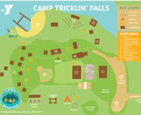 Camp Tricklin Falls map