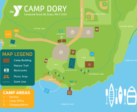 Camp Dory Map