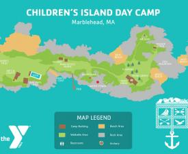 childrens island camp map